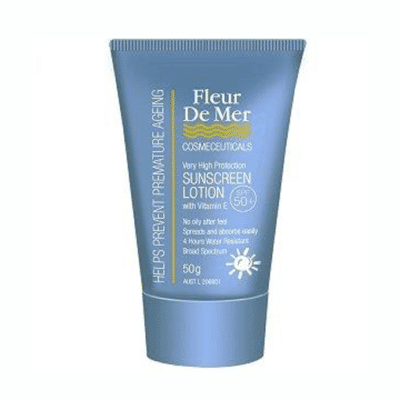 Fleur De Mer SPF50+ Untinted Sunscreen with Vitamin E