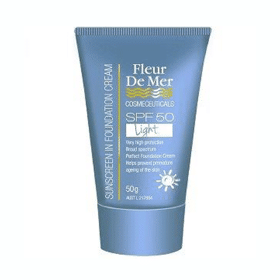 Fleur De Mer SPF50 Tinted Foundation Cream - (Light)