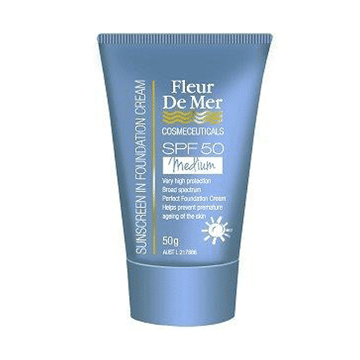 Fleur De Mer SPF50 Tinted Foundation Cream - (Soft Medium)